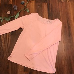 LOFT Vintage Soft Pink Long Sleeve Tee